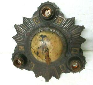 Beautiful 1920 Art Deco Antique Vintage Ceiling Light Fixture Flush Mount 3 bulb