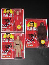 SIX MILLION DOLLAR MAN RETRO MEGO FIGURES 2X STEVE AUSTIN & BIGFOOT BIF BANG POW