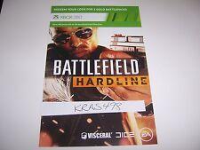 Battlefield Hardline Xbox 360 DLC BONUS CODE ONLY - No Game Included
