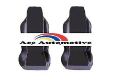 VW GOLF R32 DSG (05-08) PREMIUM FABRIC SEAT COVERS WHITE PIPING 1+1
