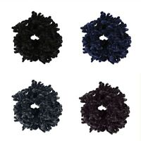 Volumising Velvet Scrunchie Plain Big Hair Tie Bun Clip Hijab Volumizer""