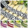 NEW DIY 1 5 Yards 1'' 25mm Zebra Stripes Printed Grosgrain Ribbon Hair Bow UK