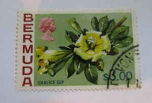 1975 Bermuda SC #328 CHALCE CUP Flowers  Used stamp
