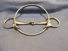 (2) Unbranded  Stainless Steel Horse Bits(1) Leather Covered