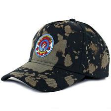 "DOPE ""Jones"" Snapback Hat (Black) Men's Grateful Dead Vintage Bleached Dad Cap"