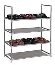 Schuhregal für 12 Paar SCHUHE 60x29x73cm - elegante Verbindung Von Stahl und Stoff