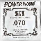 .070 Gauge, SIT Single Power Wound Bass Guitar String , Made in USA for sale