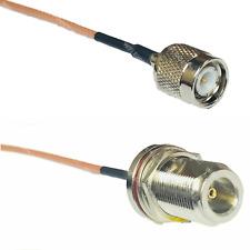 RG316 TNC MALE to N FEMALE BULKHEAD Coaxial RF Cable USA-US