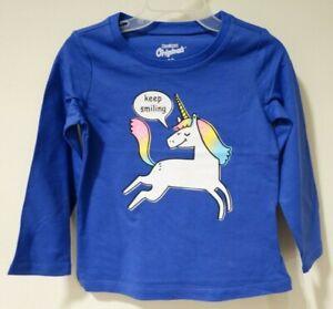 New OshKosh Keep Smiling Unicorn Top Girl's Size 4T