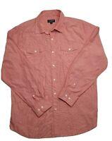 Gazman Slim Fit Long Sleeve Men's Pink Strip Shirt Size XL
