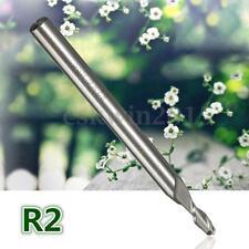 2 Flute Ball Nose End Mills Straight Shank R1.5/2/3/4/5 Mill Cutter CNC Bit Tool R2 1pc