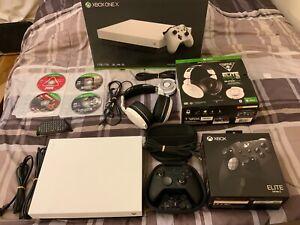 Microsoft XBOX ONE X 1TB White w/ Elite Series 2 Controller Bundle, games + more