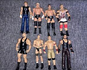 8x WWE/WWF Mattel Basic Wrestling Figure Bundle Job Lot