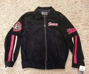 NWT Snap-On Tools Black Suede Leather Bomber Jacket 2008 Edition Size Medium NEW