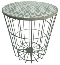 Beistelltisch Luna Metall Korb Couchtisch Sofatisch Design Holz Design