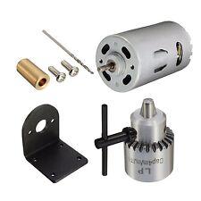 Drillpro 12-24V Mini Hand Drill Bits DIY Lathe Press 555 Motor Chuck & Mounti...