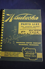 1959 Waukesha Parts List for Engine Model 145 Series
