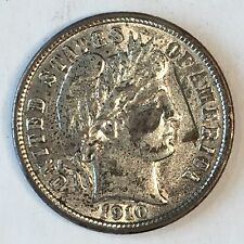 1910 Barber Dime - High Quality Scans #D194