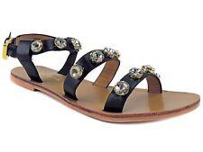 REPORT Signature Women's Zoran Crystal Embellished Sandals Black Size 7.5 M
