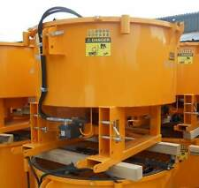 Hybrid- PTO & Hydraulic Pan Concrete Cement Mixer Tractor Forklift £2350+ VAT