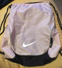 ae41b29036 Nike Swoosh String Bag Backpack Pale Pink Gray Trim And Black Back Bag