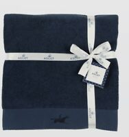 Ascot Luxe Rider Guest Towel By Christy Navy