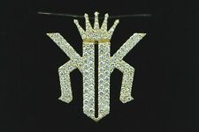 Custom 14K Yellow Gold 173 Brilliant Round Diamond KINGS Pendant 2.5ct+/- tcw