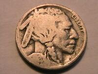 "1920-D Buffalo Nickel ""G"" Good Original Grey Toned Indian Head 5 Cent USA Coin"