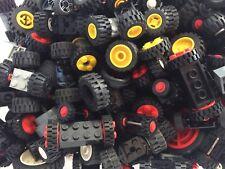 Lego® 50 Räder Set 25 Achsen Fahrzeuge Auto City Feuerwehr Polizei LKW