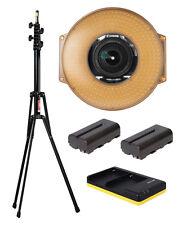 F&V HDR-300 LED Ringlicht + Lichtstativ + 2x NP-F550 Akkus + USB Dual Charger
