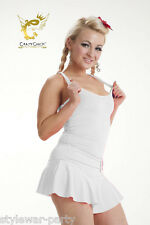 Ladies Casual Neon Racerback Top Stretchy Lycra Vest Tops Fancy Dress Accessory