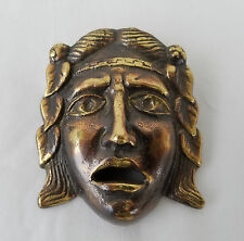 Antique Gilded Bronze Ornamental Spout of a Roman Warrior Face