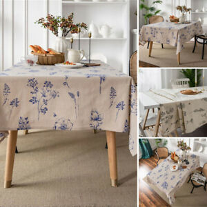 Printed Rectangle Tablecloth Table Cloth Cover Dinner Desk Kitchen Party Decor