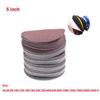 5inch 40/60/80/120/240/320/400/600/3000 Grit Sander Disc Sanding Polishing Paper