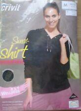 Damen Sweat-Shirt * M 40/42 * Schwarz * Wellness * Crivit * OVP