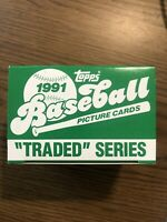 1991 Topps Traded Series Baseball Set - 132 Cards - New/Unopened Vintage