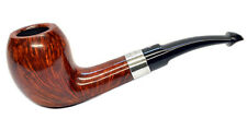Peterson Sherlock Holmes Strand Smooth Silver Mounted Pipe with a Free Pipe Tool