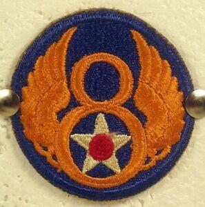 World War II WW II Army Air Force USAAF 8th Air Force Insignia Badge Patch V 2