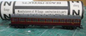 Gresley LNER N gauge 3 car restaurant car set Kit. Dapol Farish Bogies