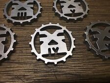 WarHammer Objective Markers - Chaos - Khorne Cog - Stainless Steel - 30mm