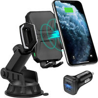 CHOETECH Wireless Car Charger Mount 10W/7.5W QI Wireless Fast Charger Car Holder