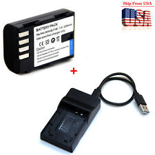 Battery / Charger For DMW-BLF19 Panasonic Lumix DMC-GH3 DMC-GH4 DMC-GH5 DC-GH5