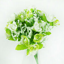 1Bouquet 21Head Fake Silk Rose Wedding Home Decor Party Artifical Plastic Flower