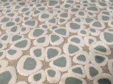 """Villa Nova Cut Velvet Petals Upholstery Fabric Fara Verdigris REMNANT 24"""" X 46"""""""