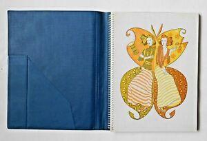 Sketch Book for Designer in Folder-Cover, Spiral Fastening. Vintage USSR 1980s