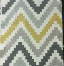 Romo Scala Quince Cotton/Linen Fabric Yellow Grey  White Colour 25W X 65Lcm