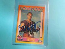 Charlton Heston Autographed Hollywood #4 Card (2)