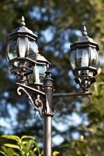 Candelabra outdoor lamp post victorian style IP44 garden patio light glass 37232