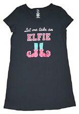 NWT Woman's Size S-M 6 - 10 Let Me Take An Elfie Sleep Shirt Gown Pajamas