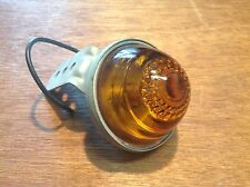 NOS vintage AMBER with Fancy glass Bullet Light Lamp AUTO Truck Travel Trailer